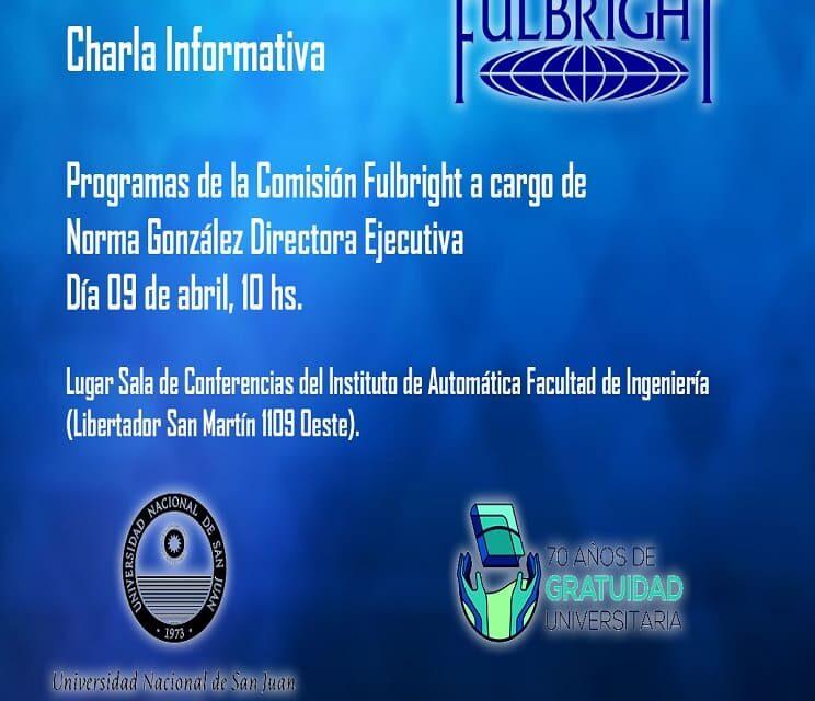 Charla informativa sobre los Programas de la Comisión Fulbright