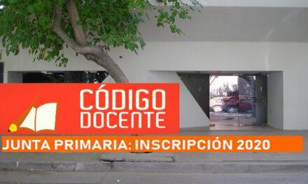 <h6>Junta Primaria</h6> Inscripción para Interinatos y Suplencias e Ingreso a la Docencia 2020