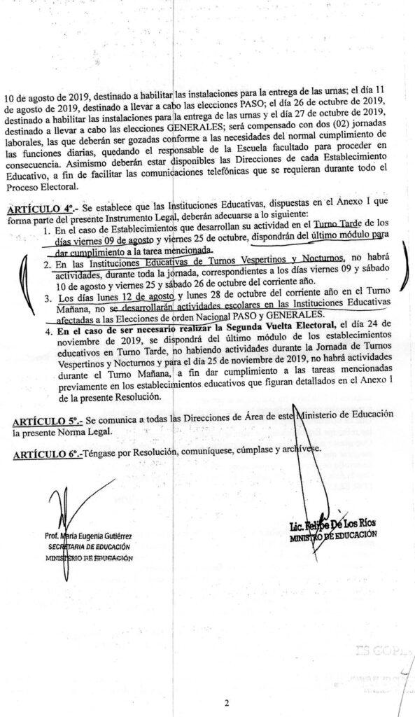 <h6>Audio: Mónica Gutierrez</h6> El Ministerio de Educación designará a los DAI que se soliciten en Desarrollo Humano