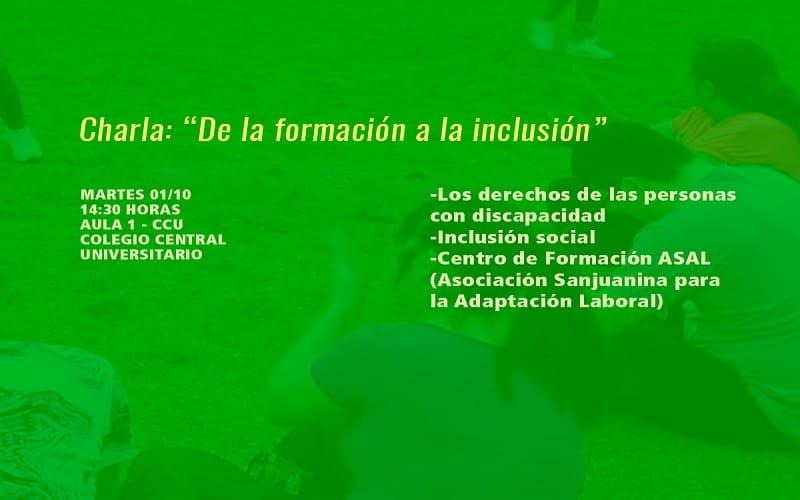 """""""De la formación a la inclusión"""""""
