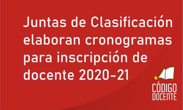 Juntas de Clasificación elaboran cronogramas para inscripción de docente 2020-21