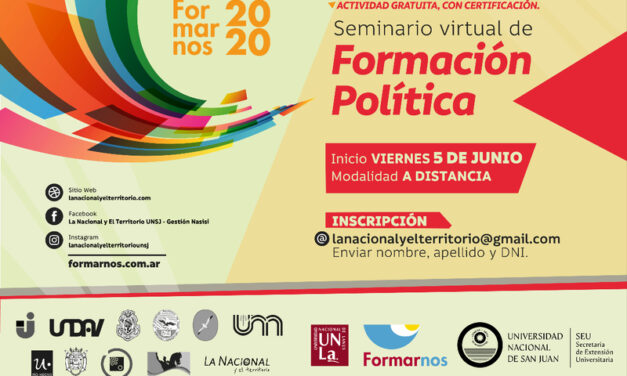 Seminario virtual de Formación Política